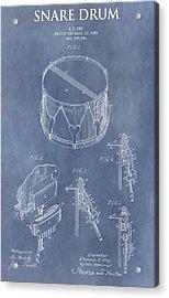 Antique Snare Drum Patent Acrylic Print
