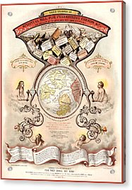 Antique Spiritualism Map Acrylic Print by Gary Grayson