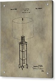 Antique Table Lamp Patent Acrylic Print by Dan Sproul