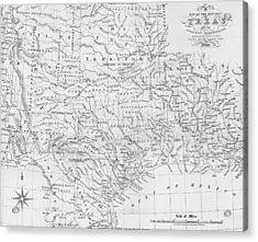 Antique Texas Map Acrylic Print