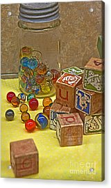 Antique Toys Acrylic Print by Valerie Garner