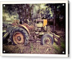 Antique Tractor Home Built Acrylic Print by Yo Pedro
