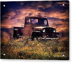 Antique Truck Acrylic Print by Darren Fisher