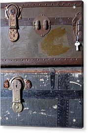 Antique Trunks 5 Acrylic Print by Anita Burgermeister