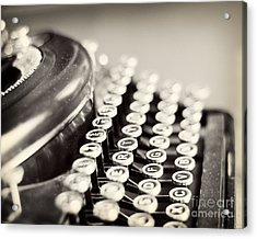 Antique Typewriter Acrylic Print by Ivy Ho