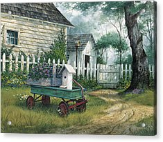 Antique Wagon Acrylic Print by Michael Humphries