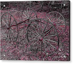 Acrylic Print featuring the photograph Antique Wagon Wheels by Sherman Perry