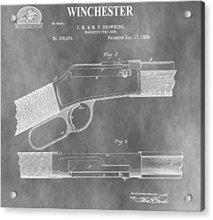 Antique Winchester Rifle Patent Acrylic Print