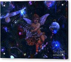 Antiqued Angel Blue Acrylic Print by Roxy Riou