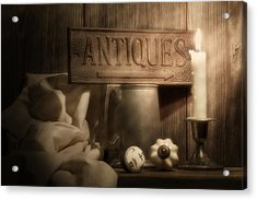 Antiques Still Life Acrylic Print by Tom Mc Nemar