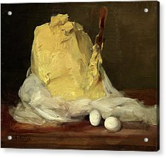 Antoine Vollon French, 1833 - 1900, Mound Of Butter Acrylic Print by Quint Lox