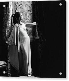 Antonella Agnelli In The Palazzo Doria In Rome Acrylic Print