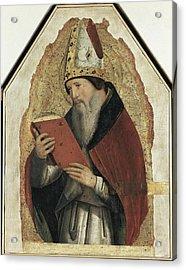 Antonello Da Messina. Saint Augustin Acrylic Print by Everett