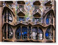 Antoni Gaudi Casa Batllo Facade Acrylic Print