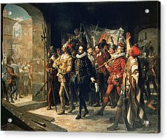Antonio Perez 1540-1611 Released From Prison By The Rebels In 1591 Oil On Canvas Acrylic Print by Augustus or Augusto Ferran