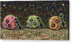 Ants And Sugar Skulls Acrylic Print by Holly Wood