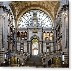 Antwerp Central Station Acrylic Print