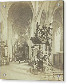 Antwerp, Church Of Saint-andre, Indoor General View Acrylic Print by Artokoloro
