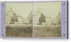 Anvers, Lhotel De Ville Et La Grande Place Acrylic Print by Artokoloro