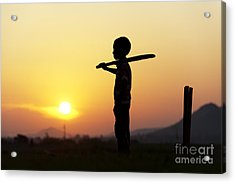 Any One For Cricket Acrylic Print by Tim Gainey