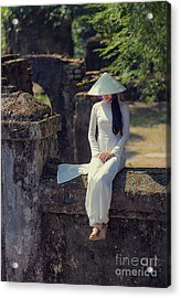 Ao Dai White Acrylic Print