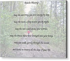 Apache Blessing With Photo Acrylic Print