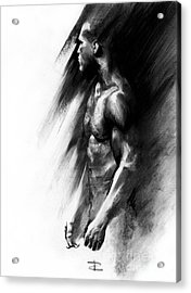 Acrylic Print featuring the drawing Apart by Paul Davenport