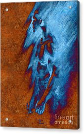 Acrylic Print featuring the drawing Apart With Mood Texture by Paul Davenport
