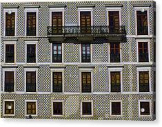 Apartment Block In Lisbon  Acrylic Print