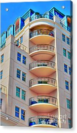 Apartment Building Acrylic Print by Kathleen Struckle