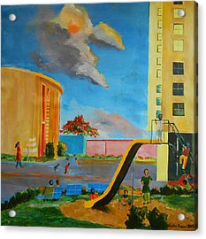 Apartment Living Acrylic Print by Geeta Biswas