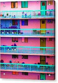 Apartments Acrylic Print by Laurie Tsemak