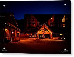 Acrylic Print featuring the photograph Apex Mountain Ski Village by Guy Hoffman
