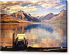 Apgar Dock Acrylic Print by Marty Koch