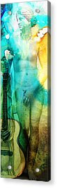 Aphrodite's First Love - Guitar Art By Sharon Cummings Acrylic Print by Sharon Cummings