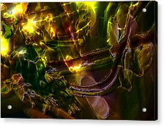 Acrylic Print featuring the digital art Apocryphal - Tilting From Beastback by Richard Thomas