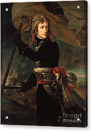 apoleon Bonaparte on the Bridge at Arcole Acrylic Print by Celestial Images