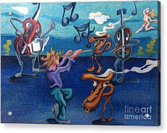 Apollinaire's First Symphony With Musical Instruments Acrylic Print by Genevieve Esson