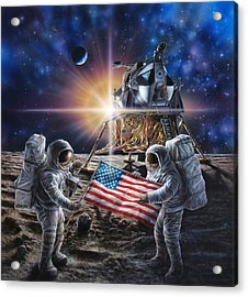 Apollo 11 Acrylic Print by Don Dixon