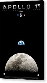 Apollo 11 First Man On The Moon Acrylic Print