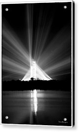 Acrylic Print featuring the photograph Apollo 11 In The Spotlight by Travis Burgess