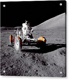 Apollo 17 Moon Rover Ride Acrylic Print by Movie Poster Prints