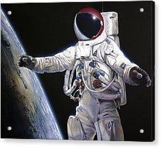 Apollo 9 - Schweickart On The Porch Acrylic Print by Simon Kregar