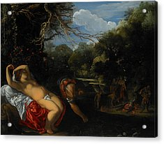 Apollo And Coronis Acrylic Print by Adam Elsheimer