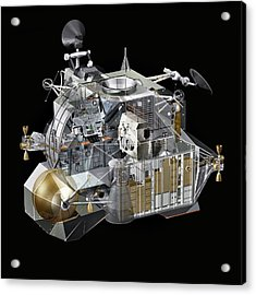 Apollo Lunar Module Ascent Stage Acrylic Print by Carlos Clarivan/science Photo Library
