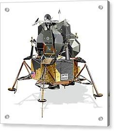 Apollo Lunar Module Acrylic Print by Carlos Clarivan/science Photo Library