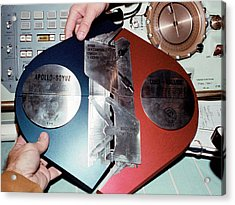 Apollo Soyuz Test Project Commemoration Acrylic Print by Nasa