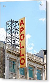 Apollo Theater Sign Acrylic Print by Valentino Visentini