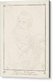 Apostle Paul, Charles Joseph Emmanuel De Ligne Acrylic Print by Charles Joseph Emmanuel De Ligne And M. Hazard