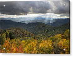 Appalachian Autumn North Carolina Fall Foliage Acrylic Print by Dave Allen